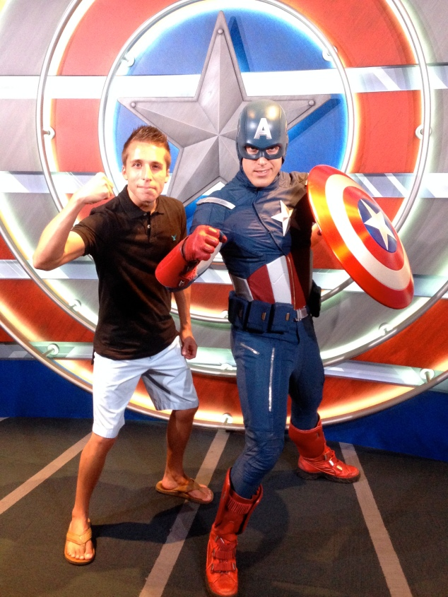 Matching muscles with Captain America
