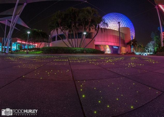 Fiber Optic Lights in the Sidewalks of Future World at Epcot