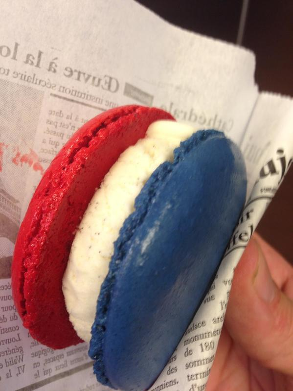 Macaron Ice Cream Sandwiches 4th of July