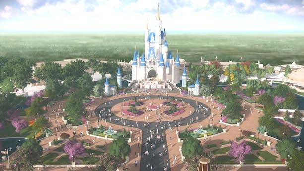 Magic Kingdom Hub Concept Art