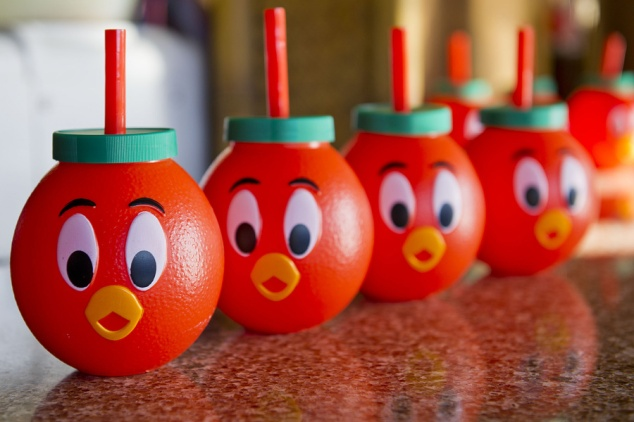 Orange Bird Sippers