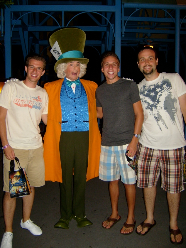 Jeremy, Derek, and friend David at Mickey's Not So Scary Halloween Party