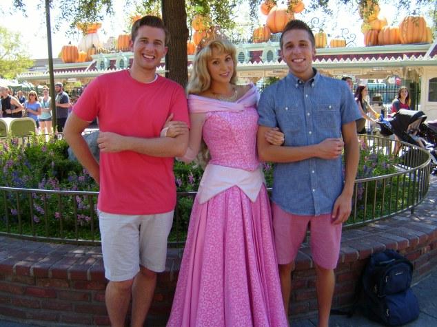 Meeting Princess Aurora inside Disneyland's main gate