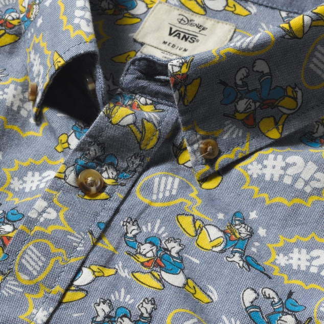 Vans Donald Duck Shirt Close-Up