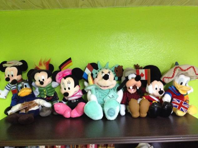 Jeremy's current collection of World Showcase plush toys
