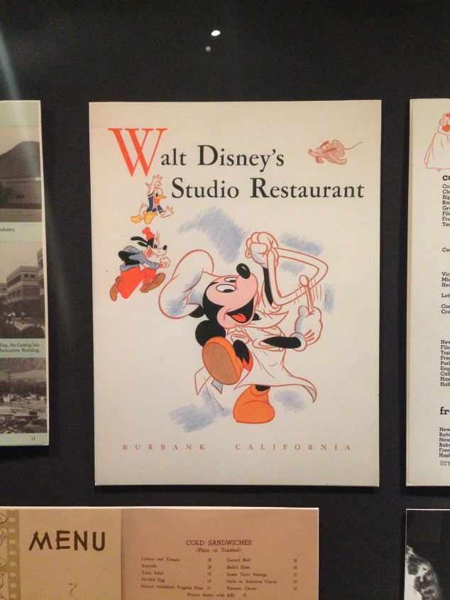 Walt Disney Family Museum Studios Menu