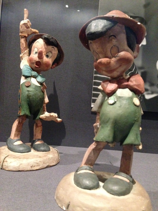 A 3D figurine of Pinocchio to help artists become familiar with the character from every angle