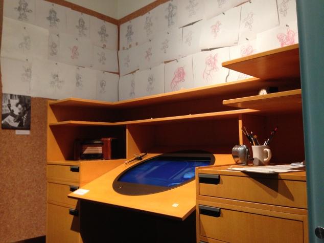 An animator's workspace