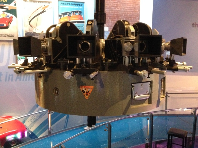 Nine cameras in a circle, used to film in Circle Vision 360 (a la O Canada! and Reflections of China in Epcot)