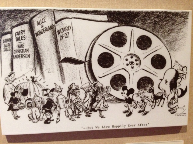 Walt Disney Family Museum cartoon Walt's death 2