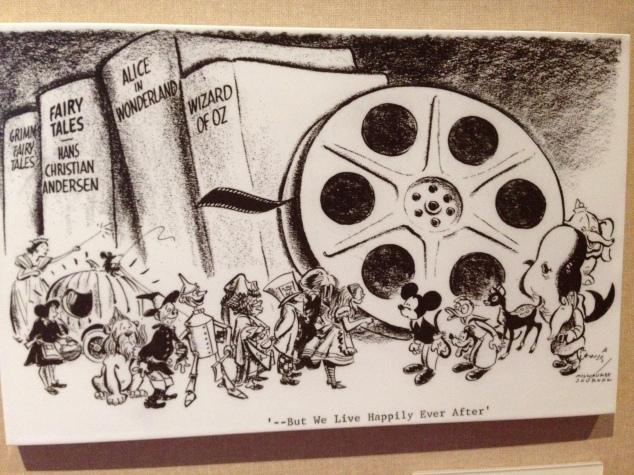 Walt Disney Family Museum cartoon Walt's death 2