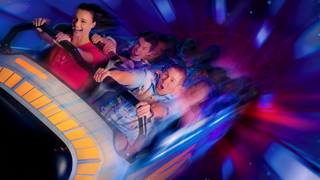 Space Mountain Disneyland Promo Pic