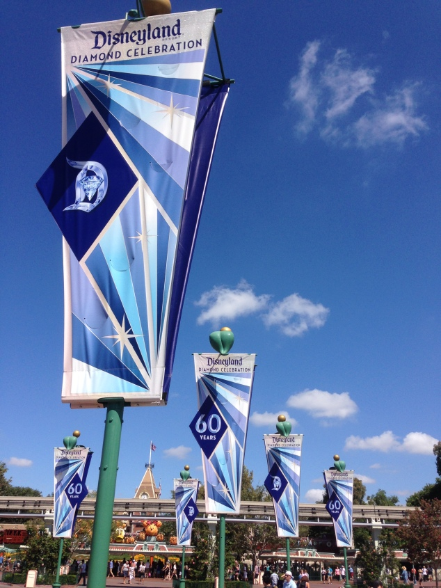 Disneyland 60 Diamond Banners