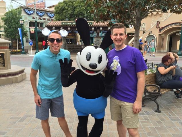 Derek, Jeremy, and Oswald the Lucky Rabbit