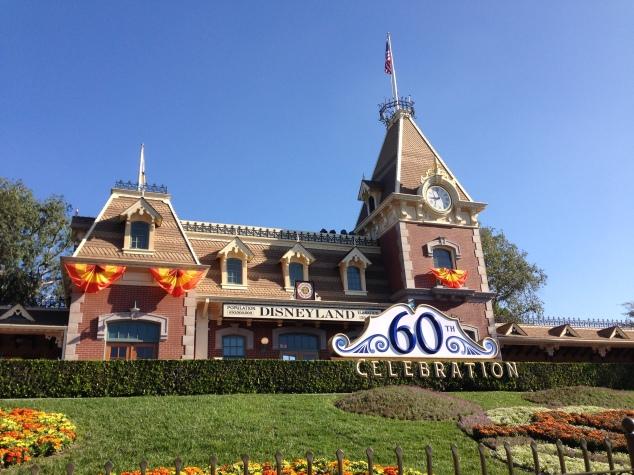 Disneyland 60 DIamond Main Street Train Station