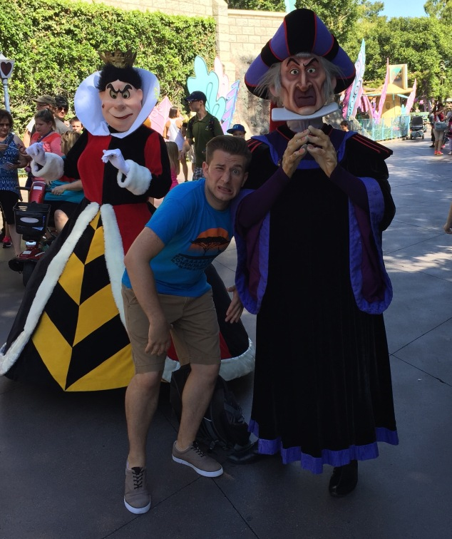 Jeremy, Queen of Hearts, and Frolo