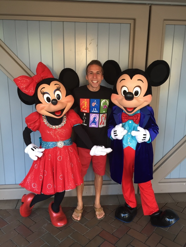 Derek with Mickey and Minnie Disneyland 60
