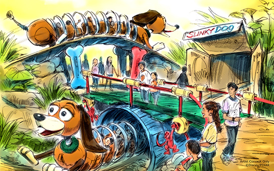 Slinky Dog Coaster Concept