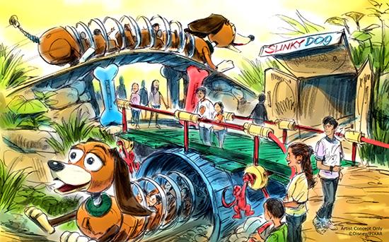 Slinky Dog Coaster Concept