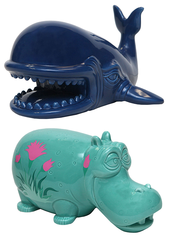 Ceramic Figures of Monstro and a Hippo