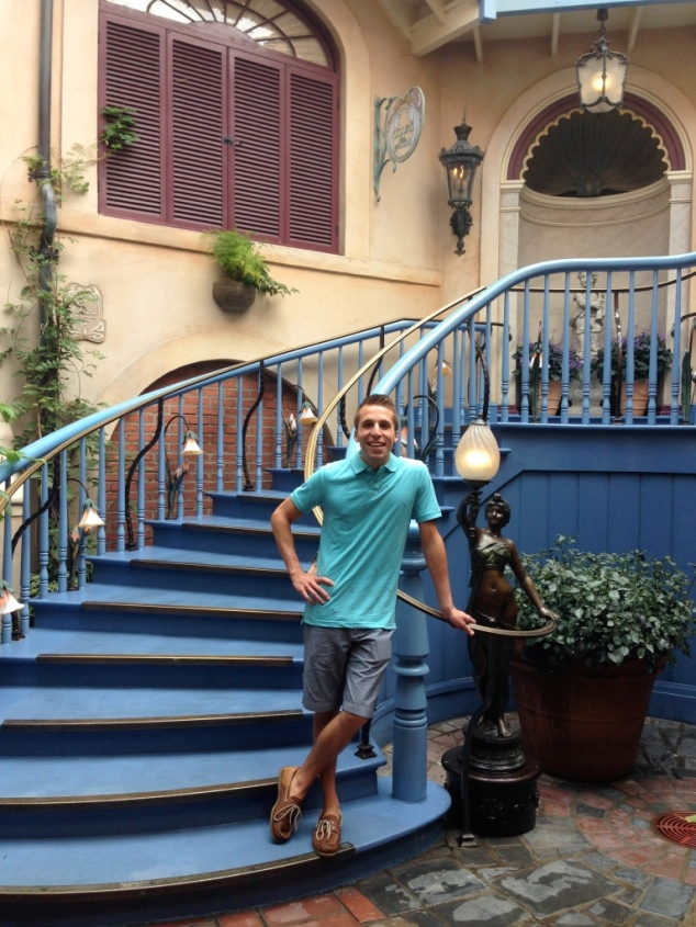Club 33 Stairs Standing